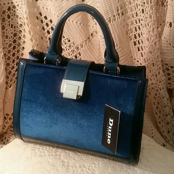 69167b1d8e25 NWT Dune London Teal Blue Handbag